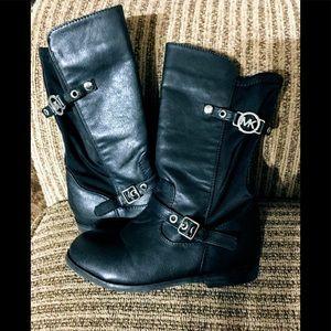 Michael Kors Black Leather Boots 11T